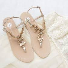 gold wedge shoes for wedding bohemian and grecian inspired wedding sandals deer pearl flowers