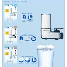 Kitchen Faucet Filter by Brita On Tap Chrome Water Faucet Filtration System Fits Standard