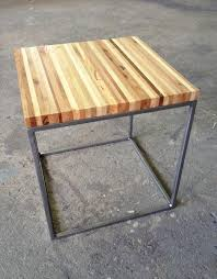 recycled pallet wood and steel end table pallet furniture diy