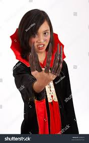 halloween costumes with white background young dressed halloween costume over stock photo 6328675