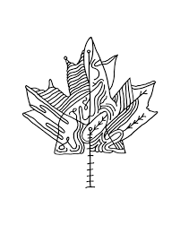 10 000 pages canadian maple leaf colouring 5832