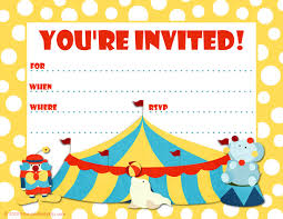 party invitation free printable party invitations big top circus themed party
