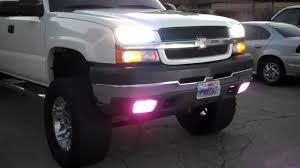 2003 chevy silverado fog lights 03 07 classic chevy silverado all lights on mod youtube