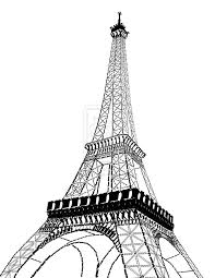 eiffel tower clipart pizza tower pencil and in color eiffel