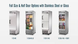 true 2 door glass cooler true t series reach in refrigerators u0026 freezers 1 2 or 3