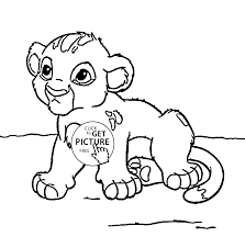 little lion simba animal coloring page for kids animal coloring