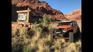gemini jeep gemini bridge trail in moab youtube