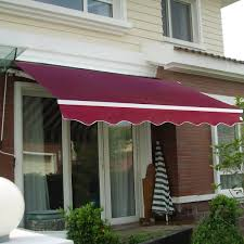 amazon com goplus manual patio 8 2 u0027 6 5 u0027 retractable deck awning