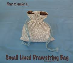 How To Make A Small by Small Lined Drawstring Bag Tutorial Drawstring Bag Tutorials