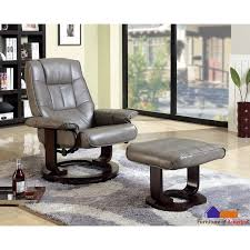 furniture of america u0027chester u0027 grey swivel lounger chair with