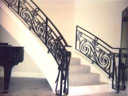 the man functions of stair railing house exterior and interior image of wrought iron stair railing