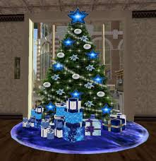second marketplace blue decor pack2 tree wiht