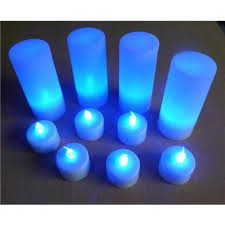 blue tea light candles 20 x led battery operated tea lights with white base and blue flame