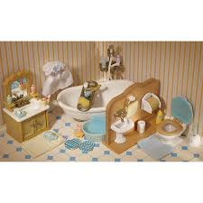 sylvanian families garden set sylvanian families country bathroom set toys