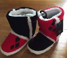 womens slipper boots size 11 harley quinn boot slippers size xl 11 12 ebay