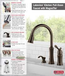 Kitchen Faucet With Spray Delta Lakeview Single Handle Pull Down Sprayer Kitchen Faucet With