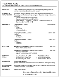 resume templates word download sample resume format word download