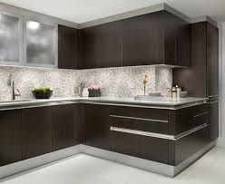modern kitchen tile backsplash ideas modern brown cabinets white marble glass kitchen backsplash tile
