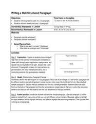 four types of paragraphs lesson plans u0026 worksheets