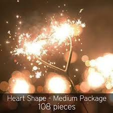 heart sparklers heart shaped wedding sparklers premium grade 108 pieces