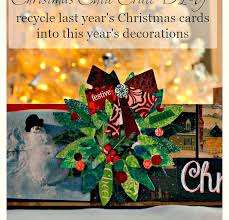 recycle old christmas cards with a cutie crate diy pink