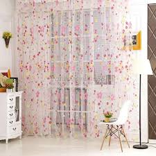 multi color assorted sheer curtains window room divider panel