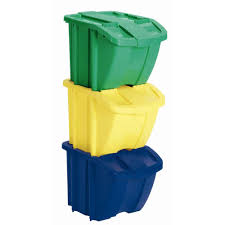 decorative recycling containers for home suncast recycle bin set 3 piece bh183pk the home depot