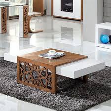 Modern Living Room Tables High Gloss Mdf Modern Coffee Table In White Cc61 журнальные