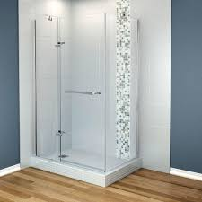 Maax Shower Door Maax Reveal 48 In X 71 5 In Frameless Corner Pivot Shower