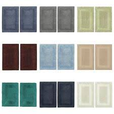 Reversible Cotton Bath Rugs 100 Cotton Bathmats Rugs U0026 Toilet Covers Ebay