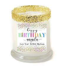 personalized birthday candles happy birthday confetti personalized candle premier personalized
