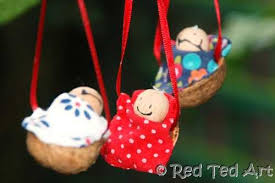 walnut babies 2 traditional babies and ornament