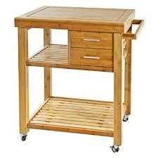 bamboo kitchen island amazon com rolling bamboo kitchen island cart trolley cabinet w