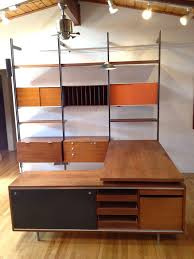 exceptional george nelson css wall unit with desk and credenza by