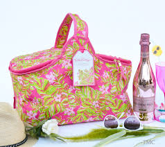 Lilly Pulitzer Home by Pulitzer Insulated Party Cooler Basket Jungle Tumble