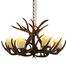 vintage polyresin deer antler chandelier light deer antler lamp