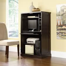 Computer Desk Cherry Wood Alluring Computer Desk Cabinets Engineered Wood Construction Dark