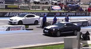 lexus is300 quarter mile ford mustang gt500 vs lexus youtube