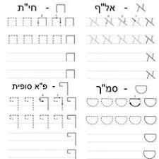 Hebrew Worksheets Hebrew Alefbet Letter Recognition Worksheets Lessons And Answer