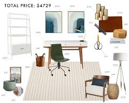 design a home office on a budget budget room design neutral home office emily henderson