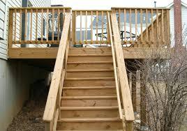 deck stair railing design handrail designs exterior wood rail