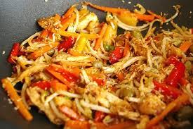 cuisiner au wok recette de wok de lapin au sésame la recette facile