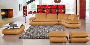 real leather sectional sofa yellow genuine leather sectional sofa set for 2018 and 2019