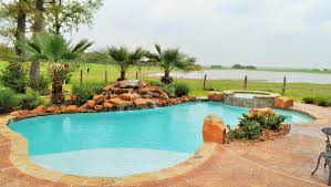 Lagoon Style Pool Designs by Bryan College Station Custom Pool Design Photos Brazos Valley