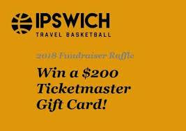 gift card fundraiser ipswich travel basketball fundraiser raffle march 25 2018