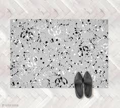modern kitchen mat grey paint splash rug paint spill pvc rug paint splatter