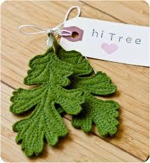 felt earrings oak leaf felt earrings