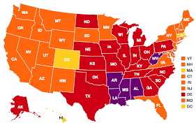 Color Map Of The United States by Obesity Rates U0026 Trends The State Of Obesity