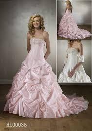 pink embroidered wedding dress cinderella wedding gown