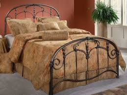 Black Metal Headboard And Footboard Bedroom Black Iron Canopy Bed Frame With Leaves Pattern